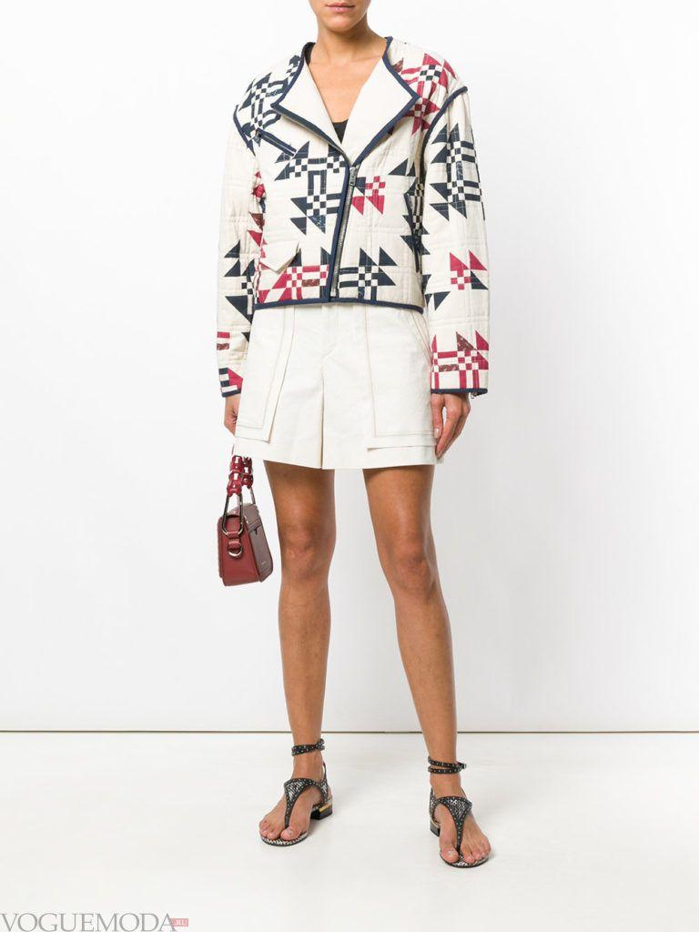 короткое пальто куртка с принтом весна