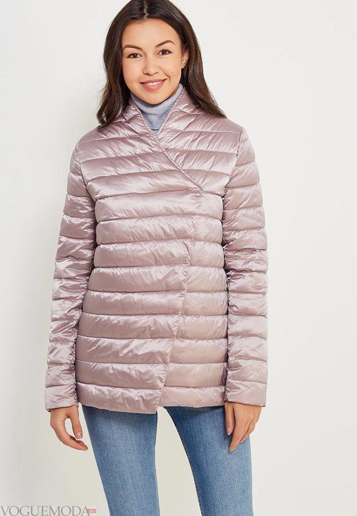 розовое короткое пальто на синтепоне весна