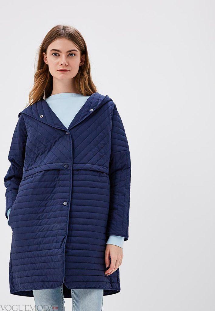 пальто на синтепоне с капюшоном весна