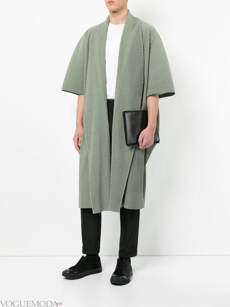 мужское пальто весна с короткими рукавами