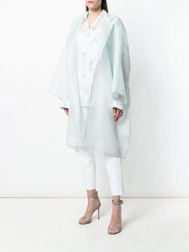 белое весеннее пальто оверсайз