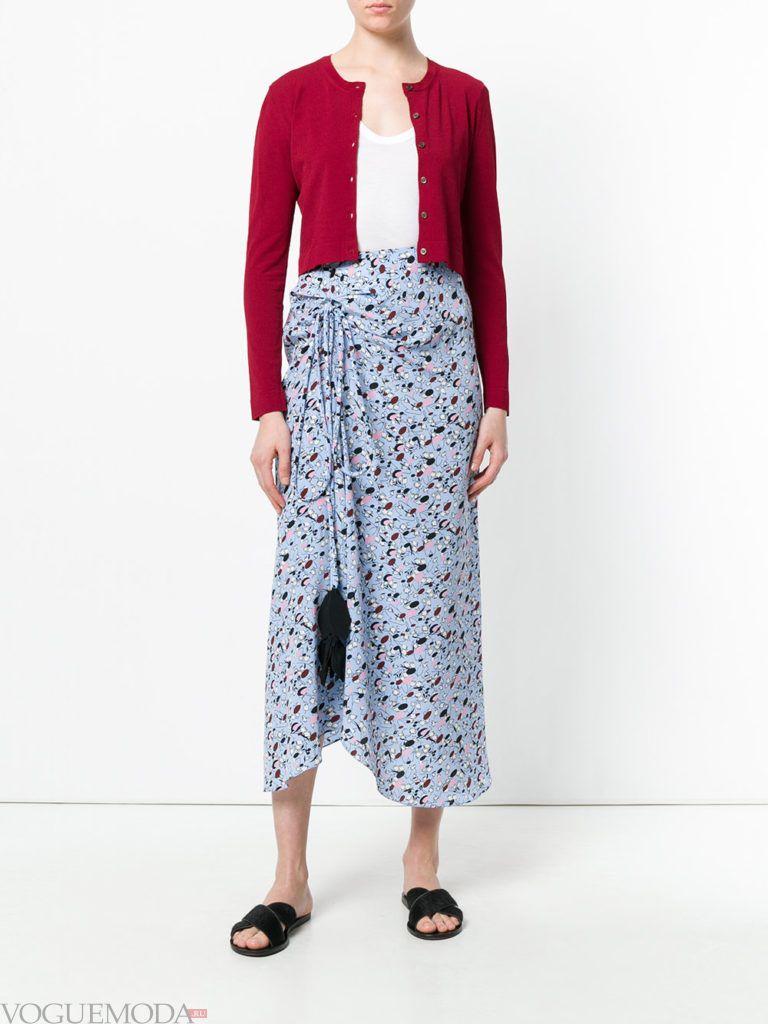 красный летний кардиган юбка макси