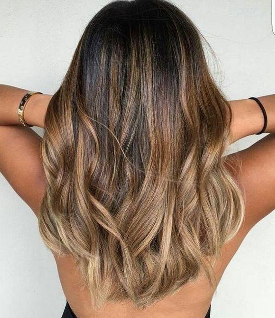 балаяж на темно русые волосы