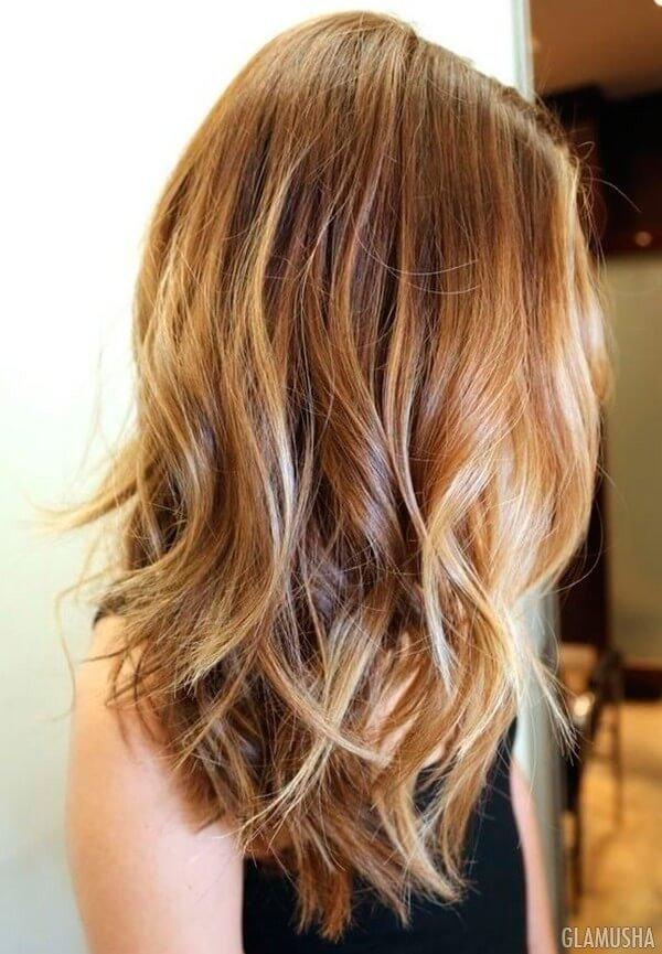 красивый балаяж на темно русые волосы