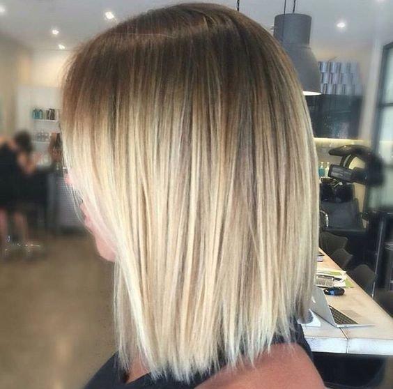балаяж на темные волосы цвета блонд