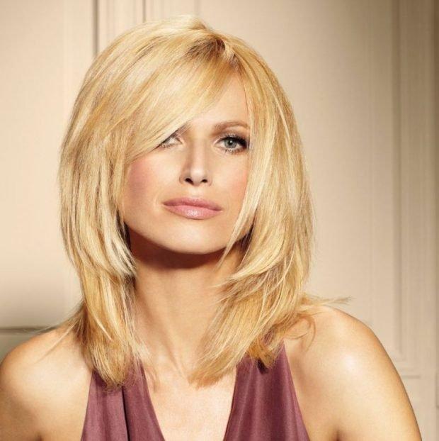 женская стрижка «Аврора» для блондинок