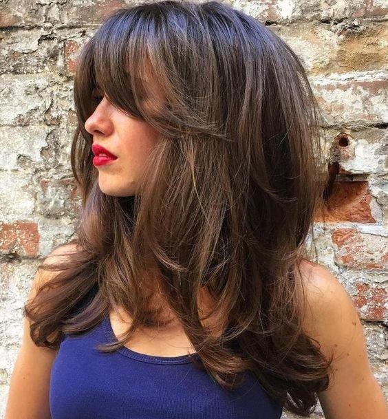 женская стрижка «Каскад» на длинные волосы
