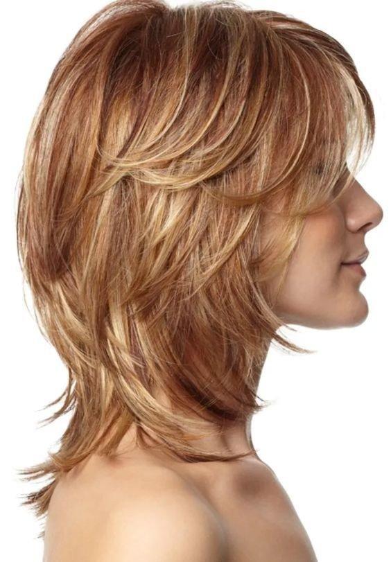 женская стрижка «Каскад» для русых волос