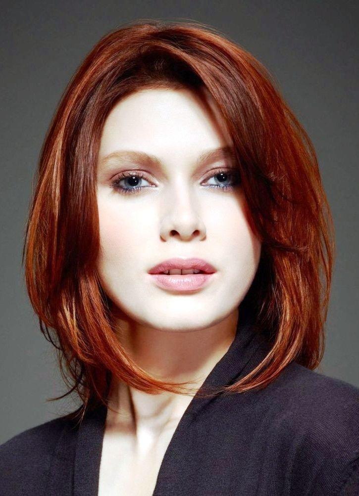 Каре на рыжих волосах