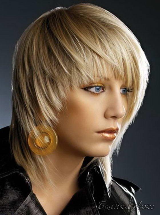 Паж на средние волосы