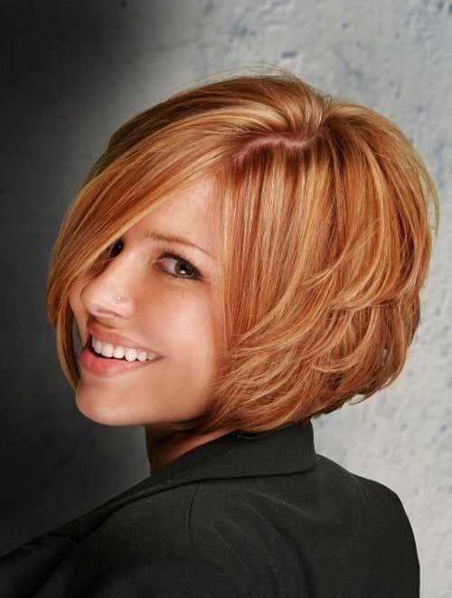 Боб-каре на рыжие волосы