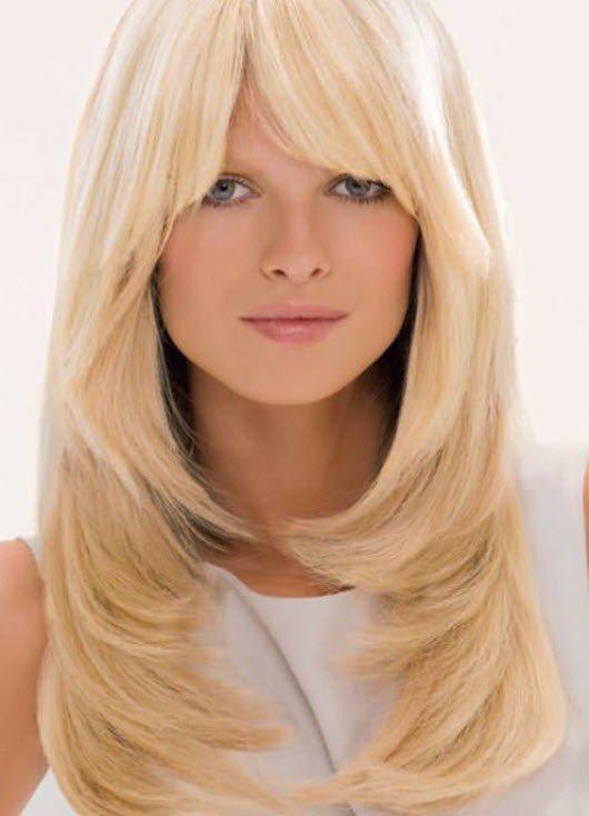женская стрижка «Лесенка» для блондинок