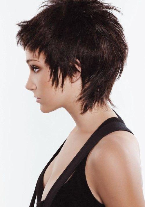 Гаврош на средние волосы