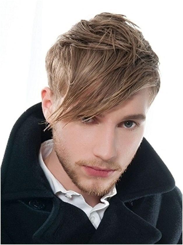 мужская стрижка с длинной челкой для светлых волос