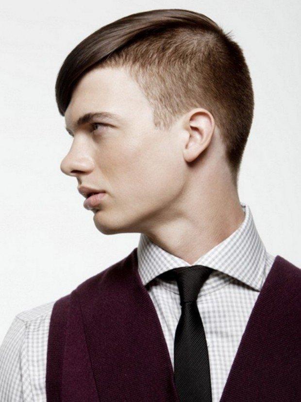 мужская стрижка с длинной челкой для прямых волос