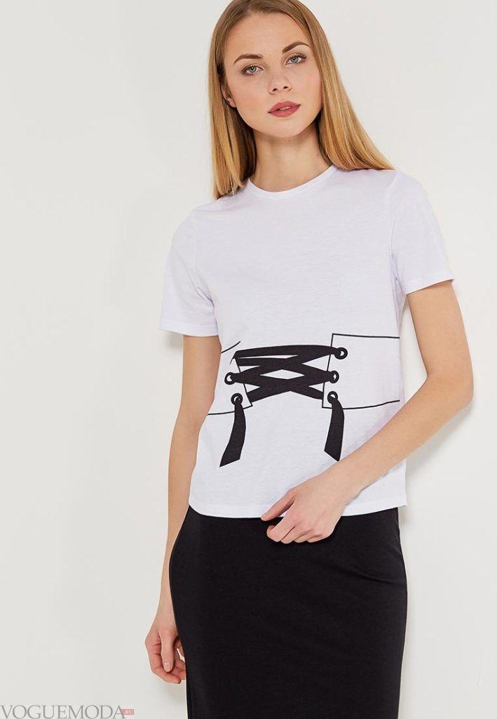 женская футболка с изображением пояса