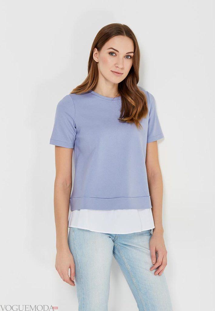 многослойная женская футболка