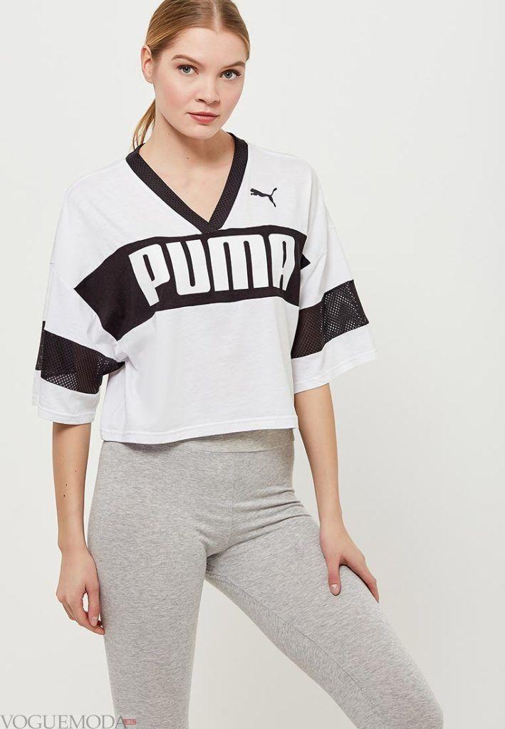 женская спортивная футболка с надписью