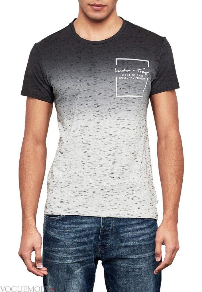 мужская футболка омбре
