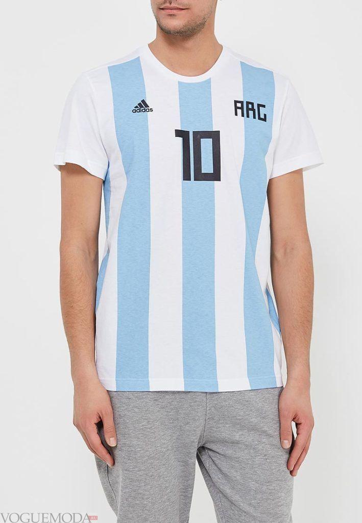 футбольная футболка в полоску