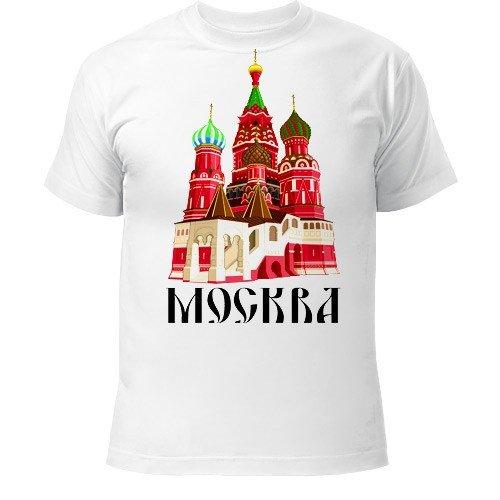 белая футболка с принтом города