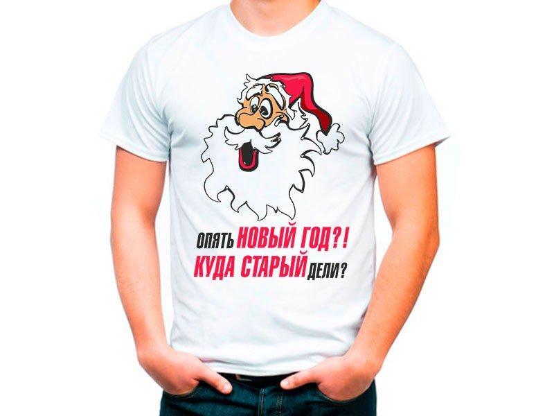 новогодняя футболка с принтом