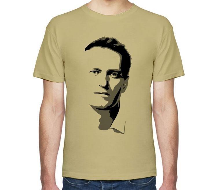 цветная футболка с изображением Навального