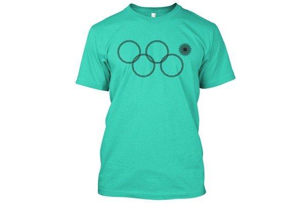 мятная футболка олимпиада с кольцами