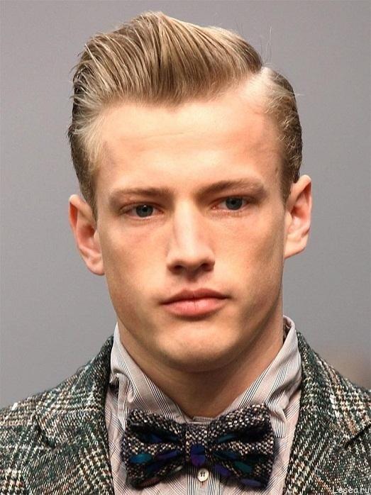 мужская стрижка «Теннис» на светлые волосы