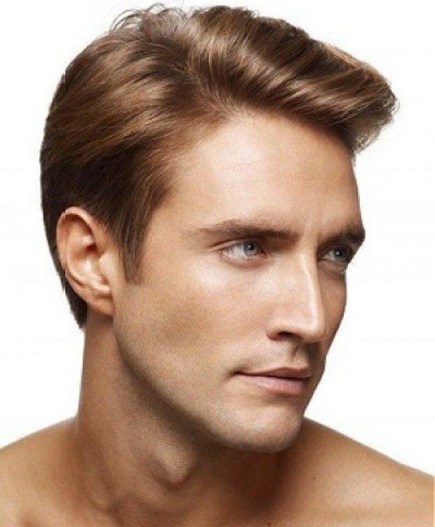 мужская стрижка «Канадка» на светлые волосы