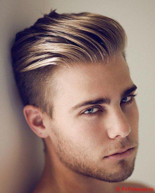 мужская стрижка «Британка» для блондинов
