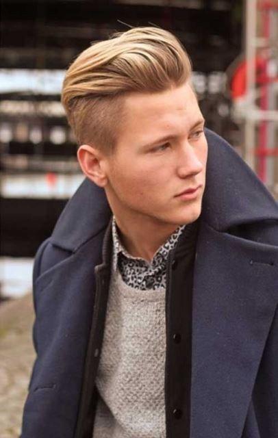 мужская стрижка «Андеркат» для блондинов