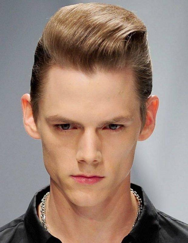 мужская стрижка «Бокс» на светлые волосы