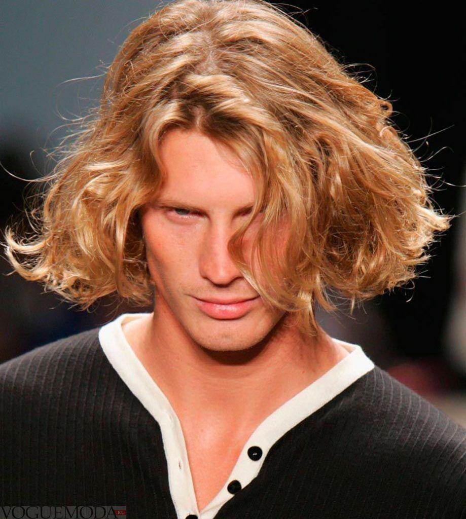 мужская стрижка «Романтическая» на длинные волосы