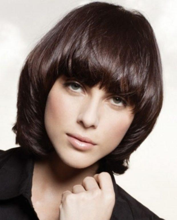 стрижка «Паж» для средних волос