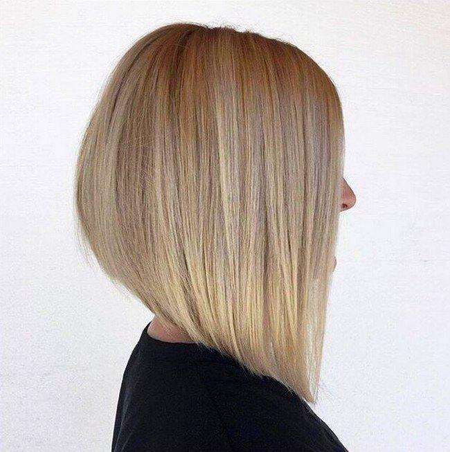 стрижка Каре для блондинок
