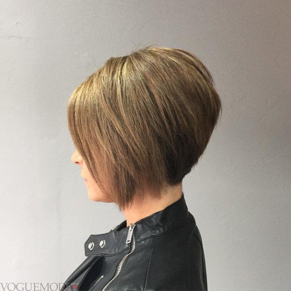 стрижка Боб для русых волос