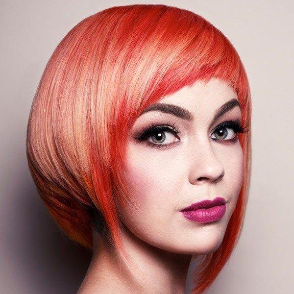 стрижка Сессон для рыжих волос