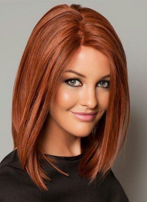 стрижка Каре для рыжих волос