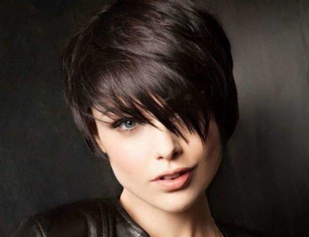 стрижка Пикси для темных волос
