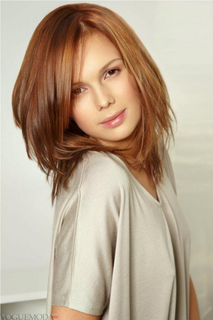 стрижка Итальянка для рыжих волос