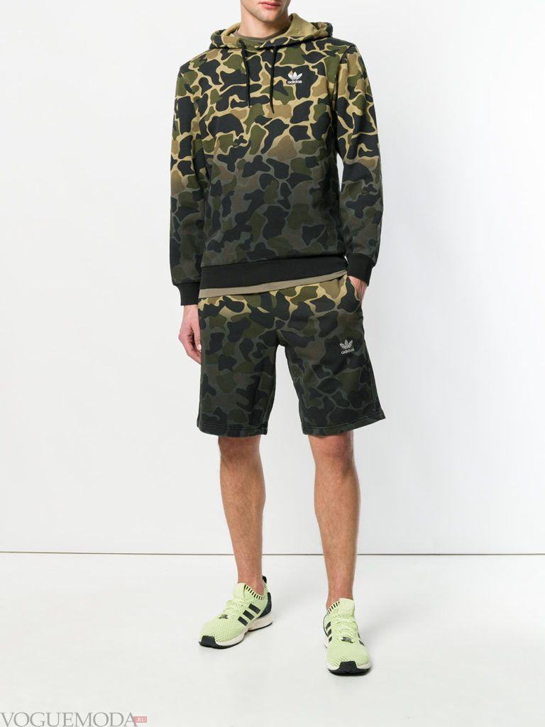 мужские шорты камуфляж и реглан