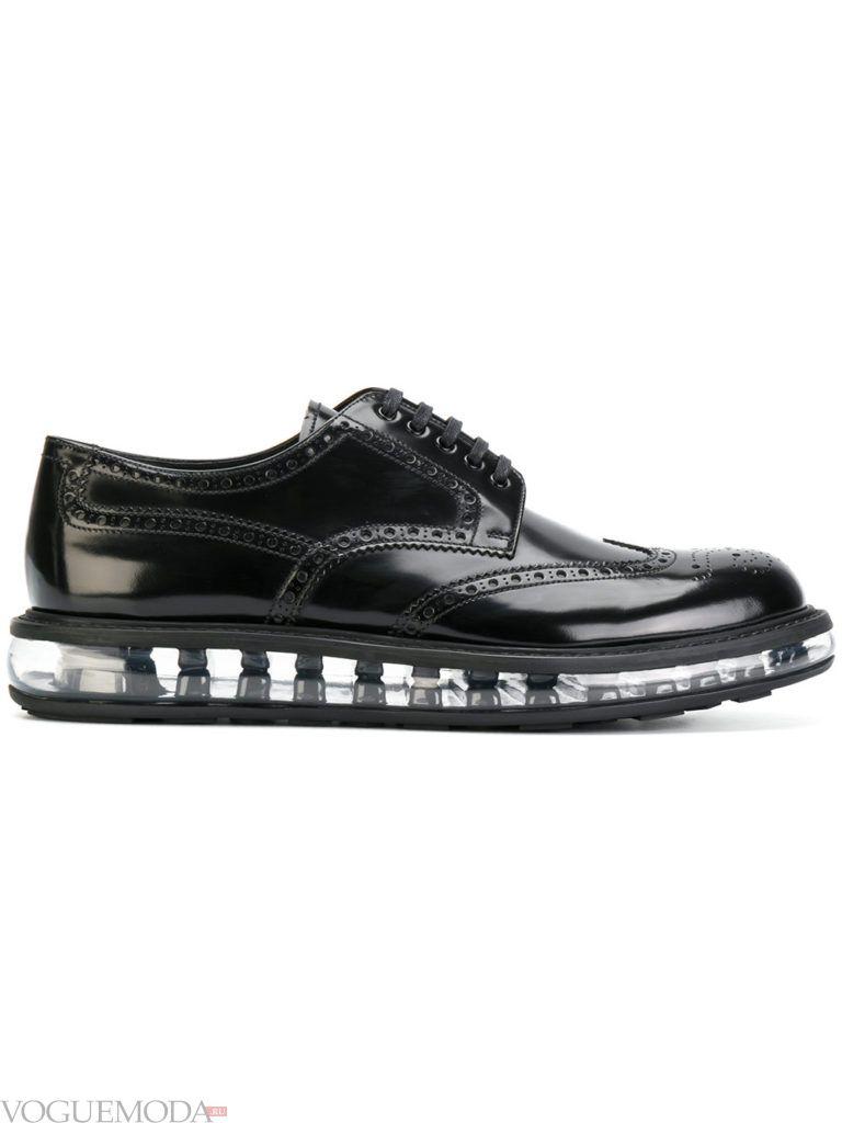 мужские туфли с необычной подошвой