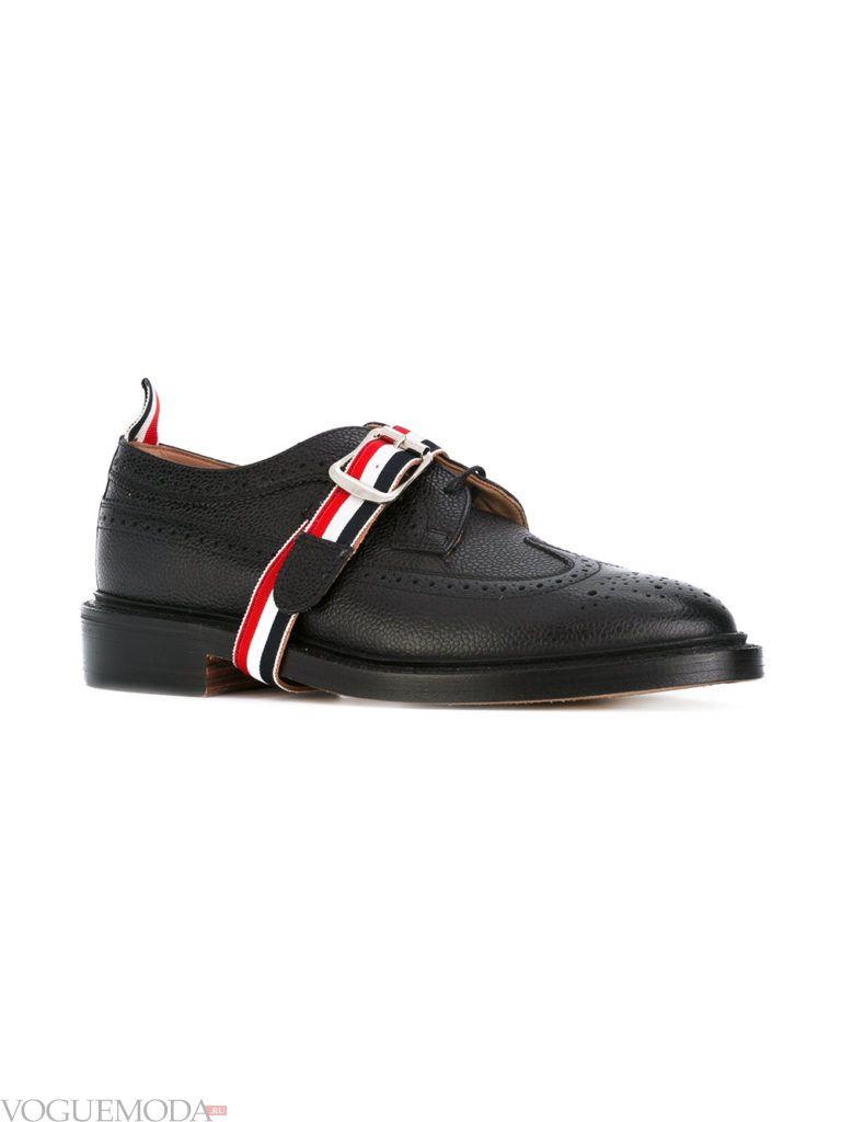 мужские черные туфли с декором