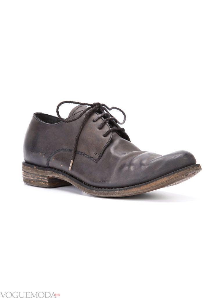 мужские туфли с эффектом поношенности