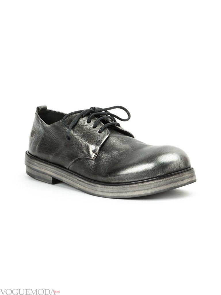 мужские туфли металлик