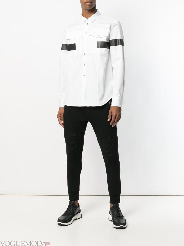 мужские спортивные брюки и рубашка с декором весна