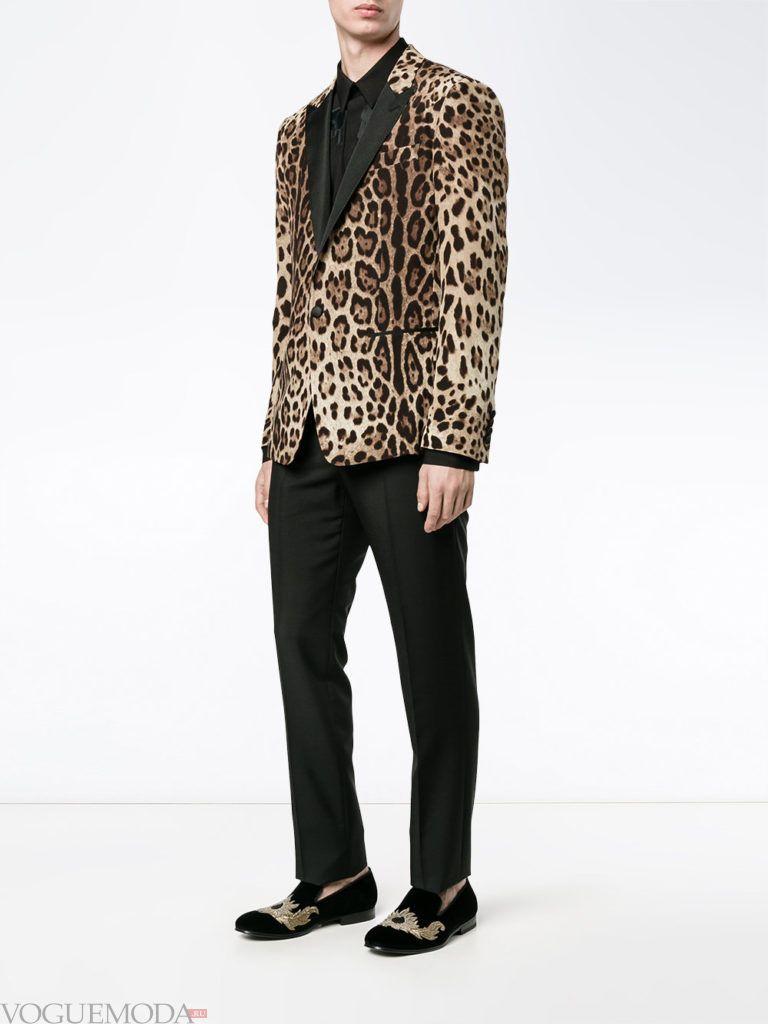 мужские брюки и пиджак с принтом весна