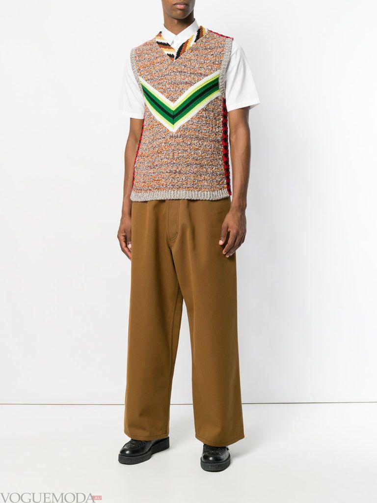 мужские широкие брюки и жилетка