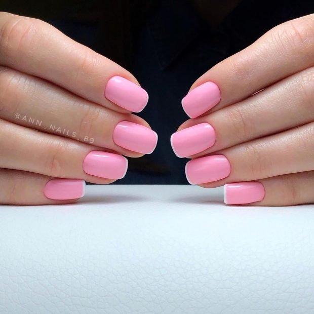 розовый красивый френч